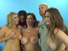 lusty milf's shares cocks in hardcore interracial group sex