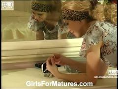 Tessa and Katrine live lesbian mature