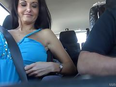 Angelic brunette MILF screaming in ecstasy as she gets hammered hardcore