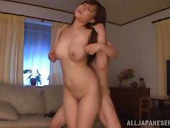 Asian hottie Rina Rukawa enjoys cunni and ardent rear banging