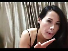 Chinese girl giving blow job, ass rim and cum in mouth