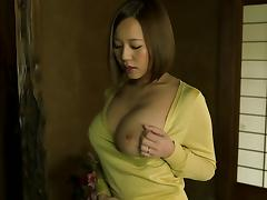Huge tits Japanese milf craves for jizz