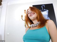 Eva Berger gets a cumshot after hardcore anal doggystyle