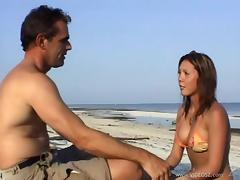 Beach, Beach, Couple, Cute, Fucking, Outdoor
