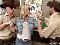 Police, Anal, Big Tits, Blonde, Blowjob, Cop