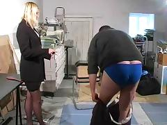 Caning, BDSM, Boss, Caning, Femdom, Office
