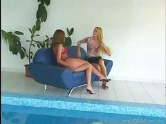 Katalin Kiraly shares a sex toy with her pretty lesbian GF