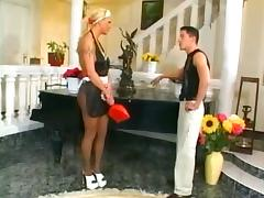 Maid, Nylon, Pantyhose, Stockings, Tall, Long Legged