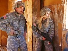 Military, Army, Babe, Blonde, Costume, Couple