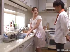 Japanese Mature, Asian, Couple, Japanese, Kitchen, Mature