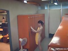 Japanese hottie gets banged by horny males