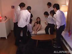 Azumi Kinoshit gets fucked and facialed in hot gangbang video