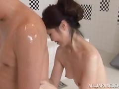 Horny and lovely Asian milf gets a hard fucking
