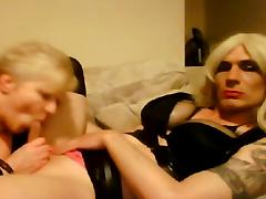Sissy Ass getting blown by older woman
