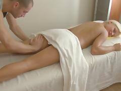 Wonderful blonde enjoying lustful erotic massage