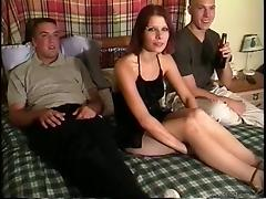 Horny bitches enjoy hardcore fucking in amateur orgy
