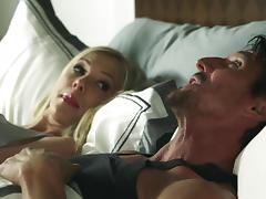Pornstar BiBi Jones gets tight cunny and mouth cock banged hardcore